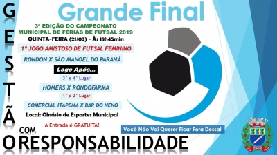 Final do Campeonato Municipal De Férias De Futsal
